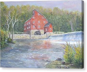 The Red Mill Canvas Print by  Luczay