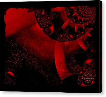 The Red Planet Cometh Canvas Print by Absinthe Art By Michelle LeAnn Scott