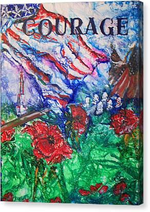 The Red Poppy Canvas Print by Patty Boban Lipinski