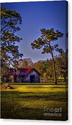 The Red Roof Barn Canvas Print by Marvin Spates