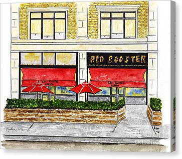 The Red Rooster Canvas Print by AFineLyne