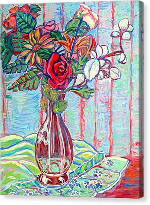 The Red Rose Canvas Print by Kendall Kessler