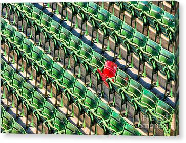 The Red Seat At Fenway Park I Canvas Print by Clarence Holmes