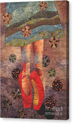 Dance Tapestries Textiles Canvas Print - The Red Shoes by Lynda K Boardman