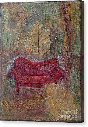 The Red Sofa Canvas Print by Delona Seserman