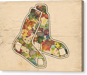 The Red Sox Canvas Print by Florian Rodarte