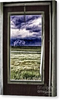 The Red Storm Door Canvas Print