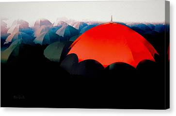 The Red Umbrella Canvas Print by Bob Orsillo
