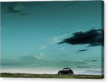 Desolation Canvas Print - The Red Vw Beetle by Camilo Otero