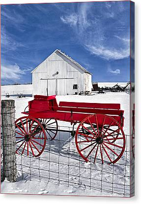 Canvas Print featuring the photograph The Red Wagon by Wendell Thompson