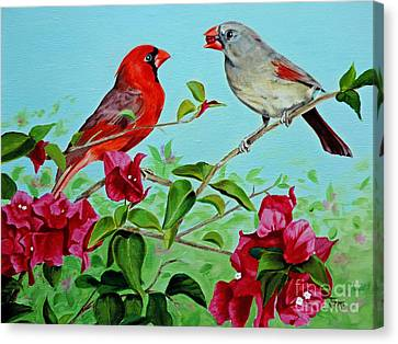 The Redbirds Canvas Print by Jimmie Bartlett