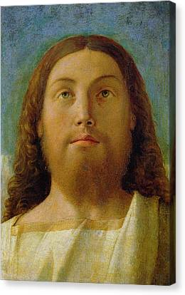 Close Up Canvas Print - The Redeemer by Giovanni Bellini