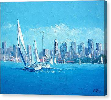 The Regatta Sydney Habour By Jan Matson Canvas Print by Jan Matson