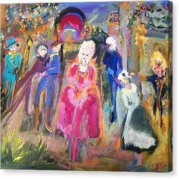 The Regency Ballet Canvas Print by Judith Desrosiers