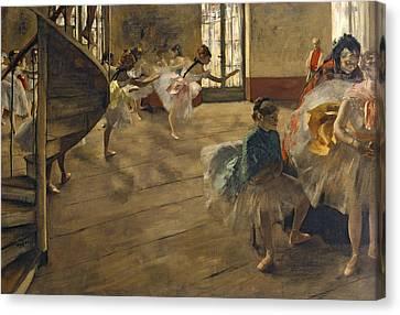 The Rehearsal, C.1877 Canvas Print by Edgar Degas