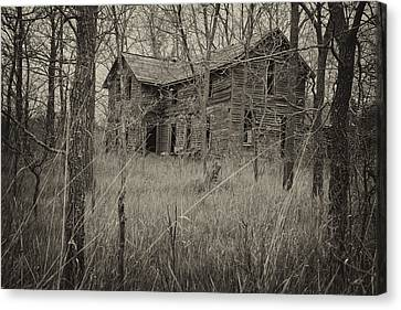 Canvas Print featuring the photograph The House In The Woods by Mary Lee Dereske