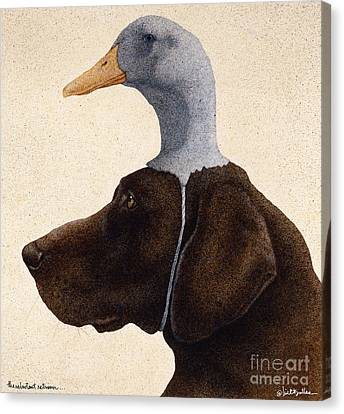 The Reluctant Retriever... Canvas Print by Will Bullas