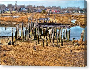 The Remains Of A Wellfleet Bridge Canvas Print
