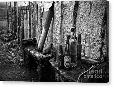 The Remains Of That Distant Party Bw Canvas Print by RicardMN Photography