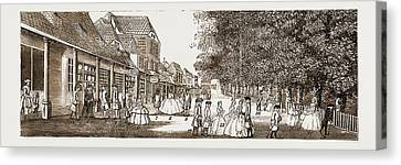 The Remarkable Characters Who Were At Tunbridge Wells Canvas Print by Litz Collection