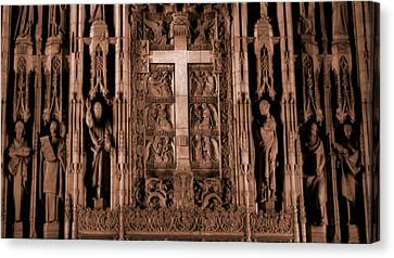The Renaissance Cross In Church Canvas Print by Dan Sproul