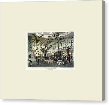 The Repository Of Arts, Literature, Commerce Canvas Print by Litz Collection