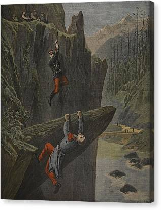 The Rescue Of A Soldier, Illustration Canvas Print by Henri Meyer