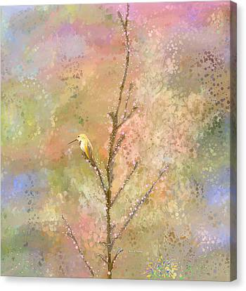 The Restlessness Of Springtime Rest Canvas Print by Angela A Stanton