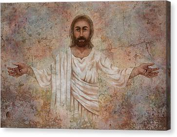 The Resurrection And The Life Canvas Print by April Moen