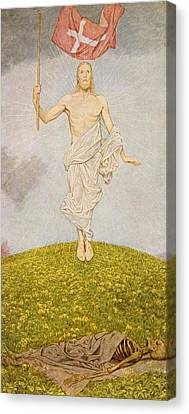 Saint George Canvas Print - The Resurrection Of Christ by Hans Thoma