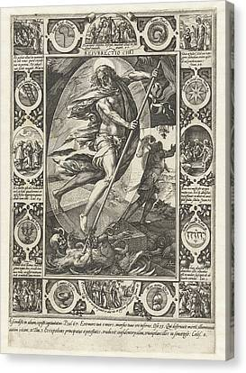 The Resurrection Of Christ, Print Maker Hendrick Goltzius Canvas Print