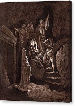 The Resurrection Of Lazarus, By Gustave Dore Canvas Print