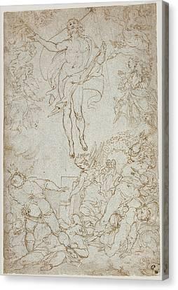 The Resurrection Santi Di Tito, Italian Canvas Print