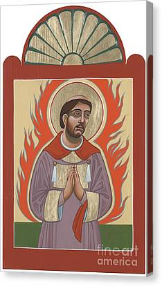 Canvas Print featuring the painting The Retablo Of San Lorenzo Del Fuego 253 by William Hart McNichols
