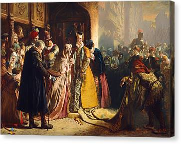 The Return Of Mary Queen Of Scots To Edinburgh Canvas Print by Mountain Dreams