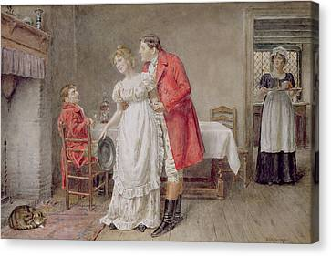 The Return Of The Huntsman  Canvas Print by George Goodwin Kilburne