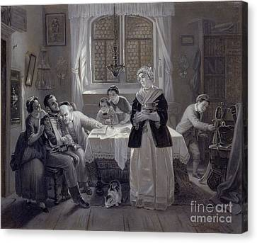 The Return Of The Jewish Volunteer Canvas Print by Celestial Images