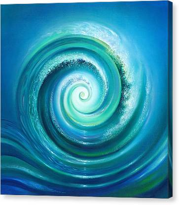 Canvas Print featuring the painting The Return Wave by Anna Ewa Miarczynska