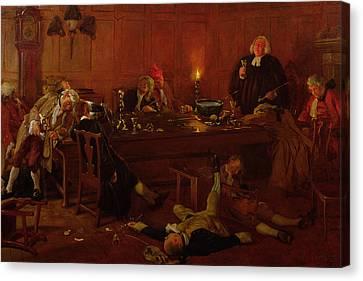 Unconscious Canvas Print - The Reverend Geoffrey Shovel, Chaplain by Thomas Davidson
