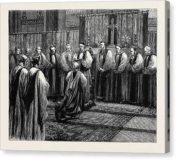 Reviving Canvas Print - The Revived Bishopric Of Truro by English School