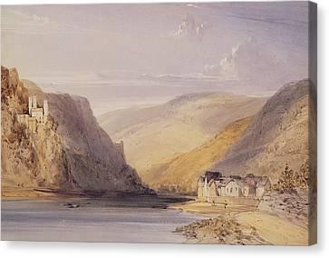 The Rhine At Assmannshausen Canvas Print by William Callow