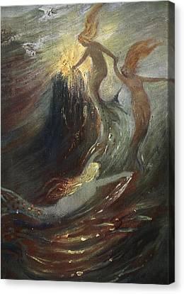 The Rhine Gold, 1906 Canvas Print by Hermann Hendrich
