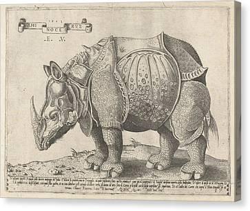 The Rhinoceros, Enea Vico, Albrecht Drer Canvas Print
