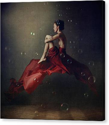 Fabric Canvas Print - The Rider by Anka Zhuravleva