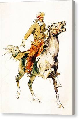The Rider Canvas Print by Pg Reproductions