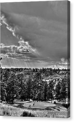 Canvas Print featuring the photograph The Ridge Golf Course by Ron White