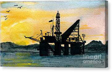The Rig Canvas Print by R Kyllo