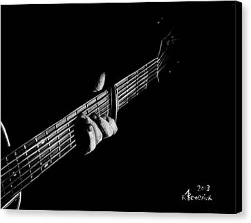 The Right Chord Canvas Print by Kayleigh Semeniuk
