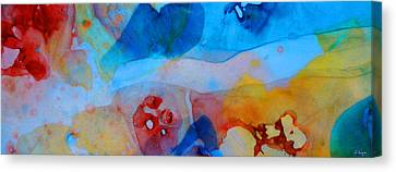 Transparency Canvas Print - The Right Path - Colorful Abstract Art By Sharon Cummings by Sharon Cummings