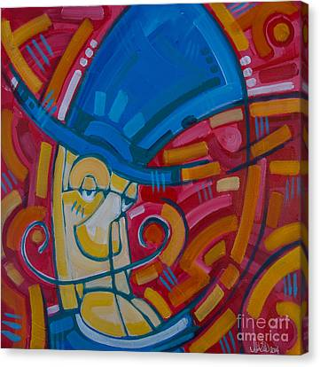 Canvas Print featuring the painting The Ring Leader by Michael Ciccotello